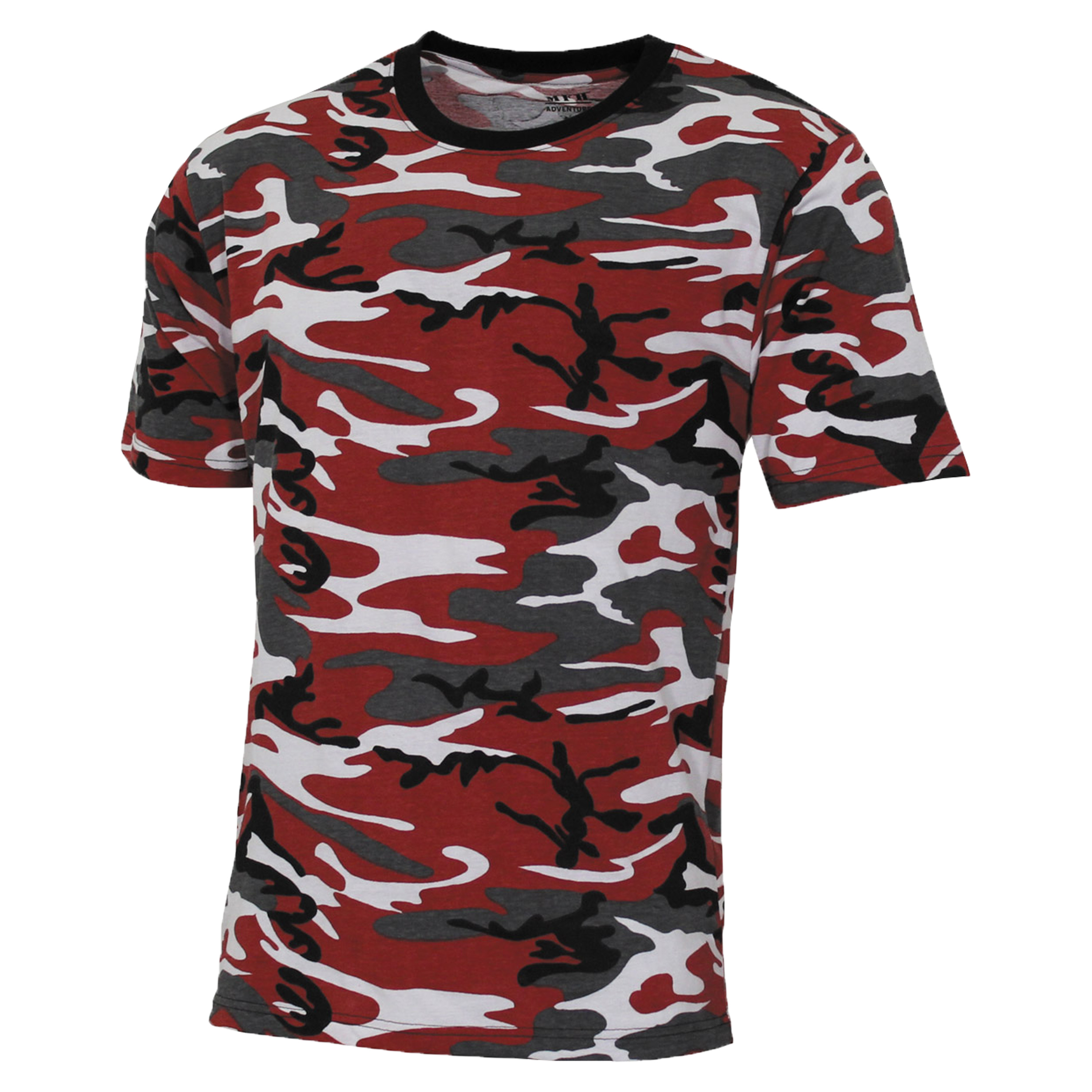 MFH T-Shirt US Street Style red camo