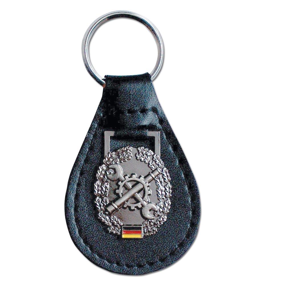Keyring with German BW Beret Insignia Instandsetzung